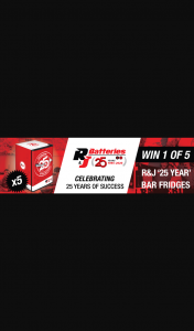 "Speedcafe – Win 1 of 5 Exclusive ""25 Year"" R&j Batteries Bar Fridges"