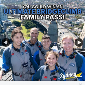 Sydney Weekender – Win a Family Pass to Ultimate Sydney Bride Climb