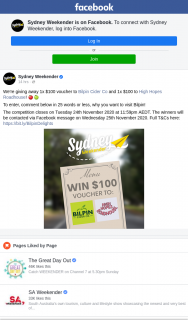 Sydney Weekender – Win a $100 Voucher to Bilpin Cider Co & $100 High Hopes Roadhouse