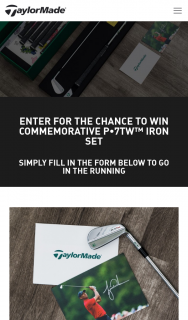 TaylorMade Golf – Win a Set of Tiger Woods Irons