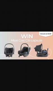 Tell Me Baby – Win a Maxi Cosi Baby Capsule