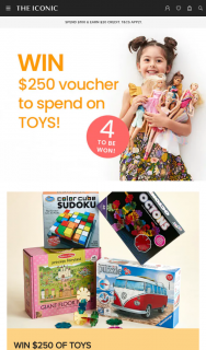 The Iconic – Win $250 of Toys