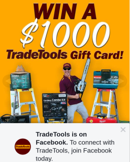 TradeTools – Win a $1000 Tradetools Gift Card (prize valued at $1,000)