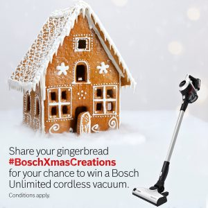 Bosch Home – Win a Bosch Unlimited cordless vacuum