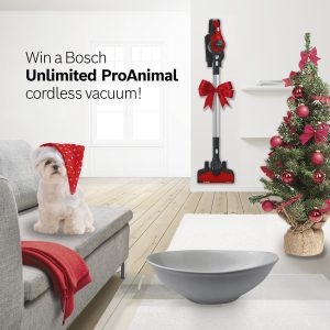 Bosch Home Appliances – Win a Bosch Unlimited ProAnimal Cordless Vacuum valued at $549