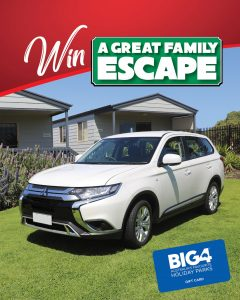 San Remo – Great Family Escape – Win 1 of 55 prizes including 1 of 5 Mitsubishi Outlander cars PLUS a $2,000 Big4 Holiday gift cars and more