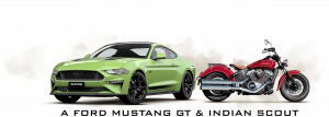 Shannons – Win a 2020 Ford Mustang Fastback GT V8 PLUS a MY20 Indian Scout Motorcycle
