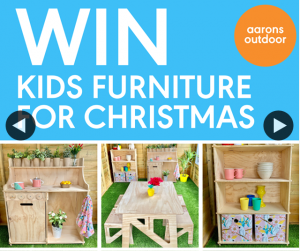 Aarons Outdoor – Win Kids Furniture Pick Up Required)