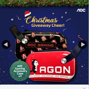 AOC monitor – Win a Limited Edition Aoc Gaming Accessory Case
