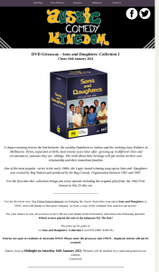 Aussie Comedy Kingdom – Win Sons & Daughters Collection 1 on DVD