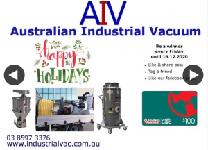 Australian Industrial Vacuum – Win 1 of 4 $100 Bunnings Gift Cards 2 More Weekly Draws Left (prize valued at $400)