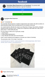 Australian Meat Emporium – Win One of 3 Gift Cards