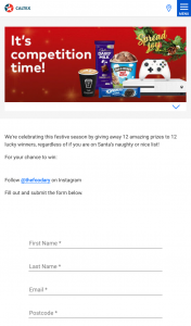 Caltex – Win 12 Days of Christmas Giveaways