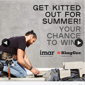Carpentry Australia – Win a @kinggeeaustralia Summer Clothes Pack Worth $500 to Rock on The Worksite Over Summer