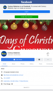Century Battery – Win Century Merchandise and Christmas Gifts