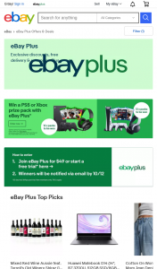 Ebay – Win a Ps5 & Xbox Series X When You Join Ebay Plus (prize valued at $31,443)