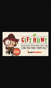 Gift Monkey – Win a $500 Gift Voucher (prize valued at $500)