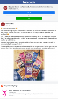 Harvest Box – Win a Christmas Care Pack