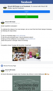 Hirsch Hill Estate – Win Our New Pinot Noir Rosé Hamper Giveaway By Following The Steps Below