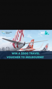Hit 106.9 Newcastle – Win a Trip to Melbourne this Christmas (prize valued at $1,000)