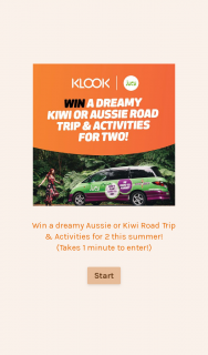 Klook – Win a Dreamy All-Inclusive Road Trip for Two