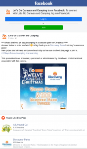 Let's Go Caravan and Camping – Win 12 Days of Christmas
