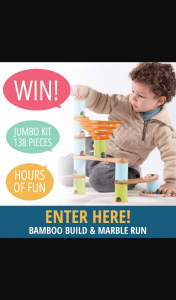 Little Kids Business – One Bamboo Build & Marble Run