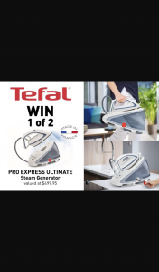 Mouths of Mums – Win 1 of 2 Tefal Pro Express Ultimate Steam Generators