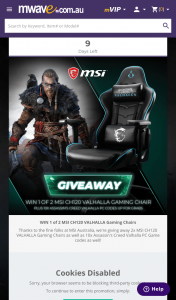 MWave – Win 1 of 2 Msi Ch120 Valhalla Gaming Chairs