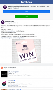 Norwood Place – Win a $250 Norwood Place Gift Card Pack (prize valued at $250)