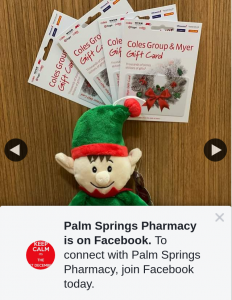 Palm Springs Pharmacy – Win $50 Coles/myer Voucher