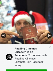 Reading Cinemas Elizabeth – Win a $30 Reading Cinemas Gift Card