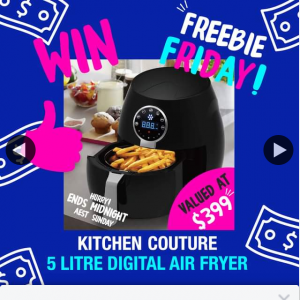 Rivers – Win an Air Fryer (prize valued at $399)