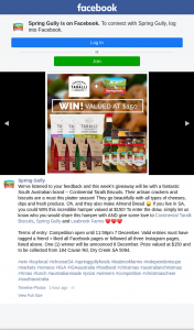 Spring Gully – Win this Incredible Hamper Valued at $150 (prize valued at $150)