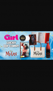 Total Girl – Win a Mulan Movie Merch and DVD Prize Pack
