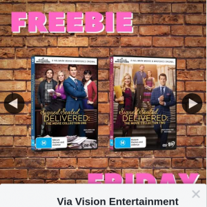 Via Vision Entertainment – Win a Copy of Signed Sealed & Delivered Movie Collection 1&2 on DVD