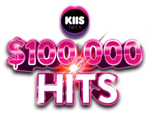 KIIS 101.1 – $100,000 Hits – Win 1 of 100 cash prizes valued at $1,000 each