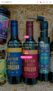 Adelady – Win a Sous Vide Precision Cooker and Two Beautiful Rio Vista Olive Oil Packs for You and Your Bestie to Share (prize valued at $400)