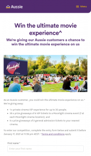 Aussie Home Loan Customers – Win The Ultimate Movie Experience (prize valued at $3,070)