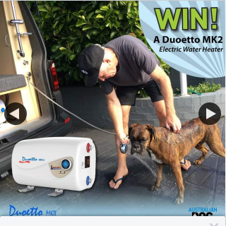Australian Dog Lover – Win a Duoetto Mkii Digital Dual Voltage (12v/240v) Electric 10l Storage Water Heater (prize valued at $425)