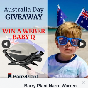 Barry Plant Narre Warren – Win Your Very Own Weber Baby Q 🥩