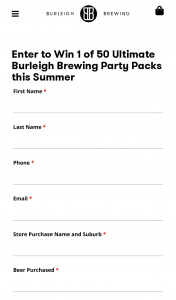 Burleigh Brewing – Win 1 of 50 Ultimate Burleigh Brewing Party Packs this Summer (prize valued at $12,500)