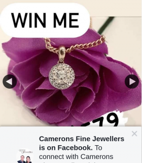 Cameron Fine Jewellers – Win a 9ct Yellow Gold Diamond Pendant (prize valued at $579)