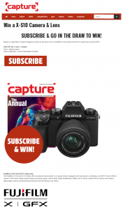 Capture Mag – Win a X-S10 Camera & Lens (prize valued at $1,899)
