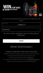 """Cellarbrations-Bottle-o/IGA Liquor/Big Bargain – """"win 1 of 100 Jack Daniel's Ue Boom 3 Speakers"""" Promotion Terms and Conditions (prize valued at $199.95)"""