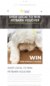 Central South Morang Victoria Shop to – Win a $100 PeTBarn Voucher (prize valued at $1,200)