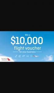 Channel 7 – Sunrise-Qantas – Win a $10000 Flight Voucher for Your Business With Qantas Business Rewards