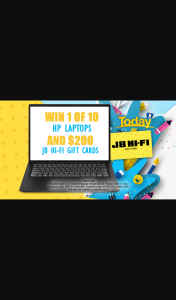 Channel 9 – Today Show – Win a Hp Laptop and Jb Hi-Fi Voucher