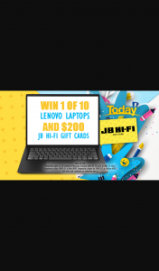 Channel 9 – Today Show – Win a Lenovo Ideapad and Jb Hi-Fi Voucher