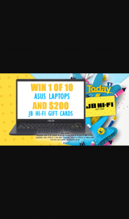 Channel 9 – Today Show – Win an Asus Laptop and Jb Hi-Fi Voucher